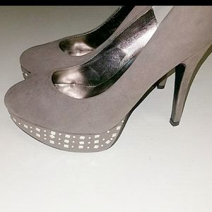NWOT☆Bolaro☆ Suede Pumps with Silver Stud Accents